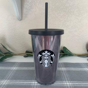 2017 Starbucks Black Glitter Grande Tumbler